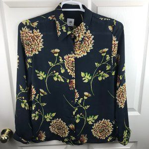 Cabi Daisy Blouse Semi Sheer Blue Size M #3250